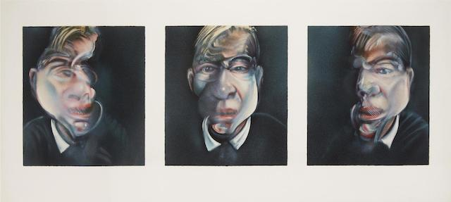 Three Studies for a Self-Portrait  (S. 15), 1981 by Francis Bacon