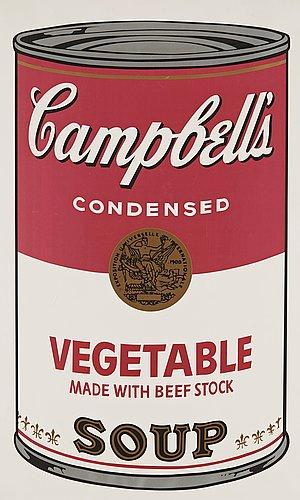 Campbell's Soup I. Vegetable Soup by Andy Warhol