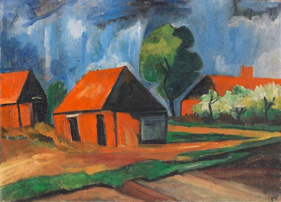 Rote H?user by Max Pechstein