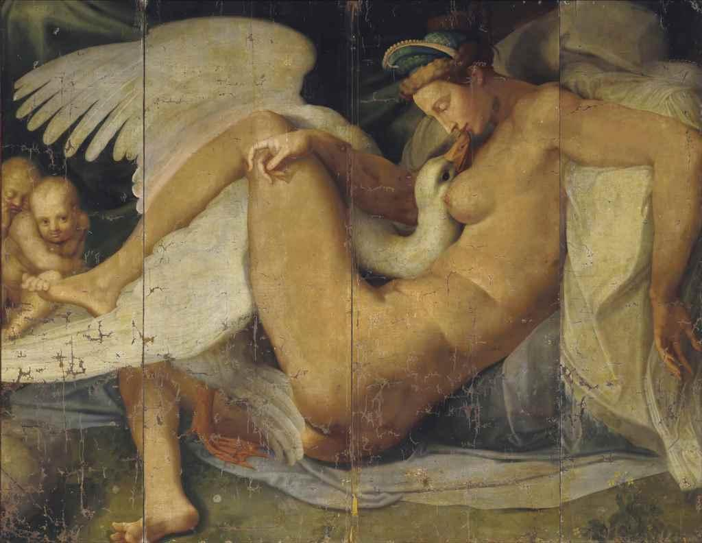 Leda and the Swan by  Michelangelo