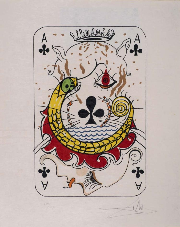 Ace of clubs by Salvador Dali