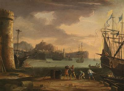 A southern seaport by Claude Lorrain