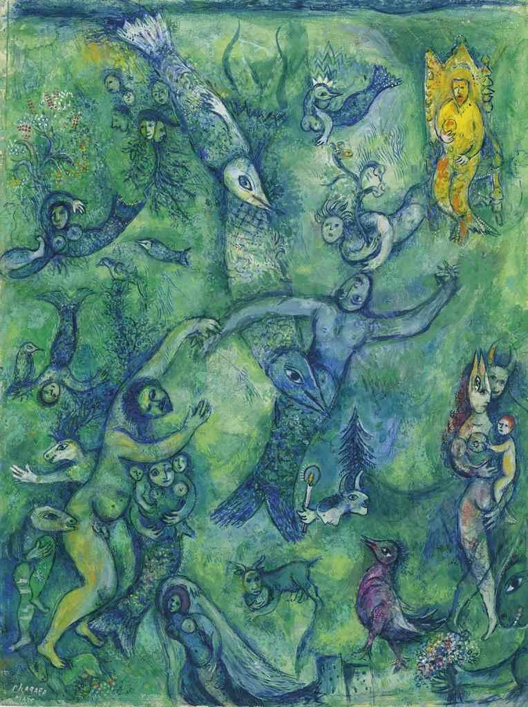 Abdallah et les ?tres marins by Marc Chagall