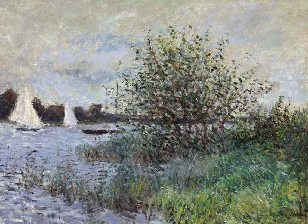 Les bords de la Seine pr?s d'Argenteuil by Claude Monet