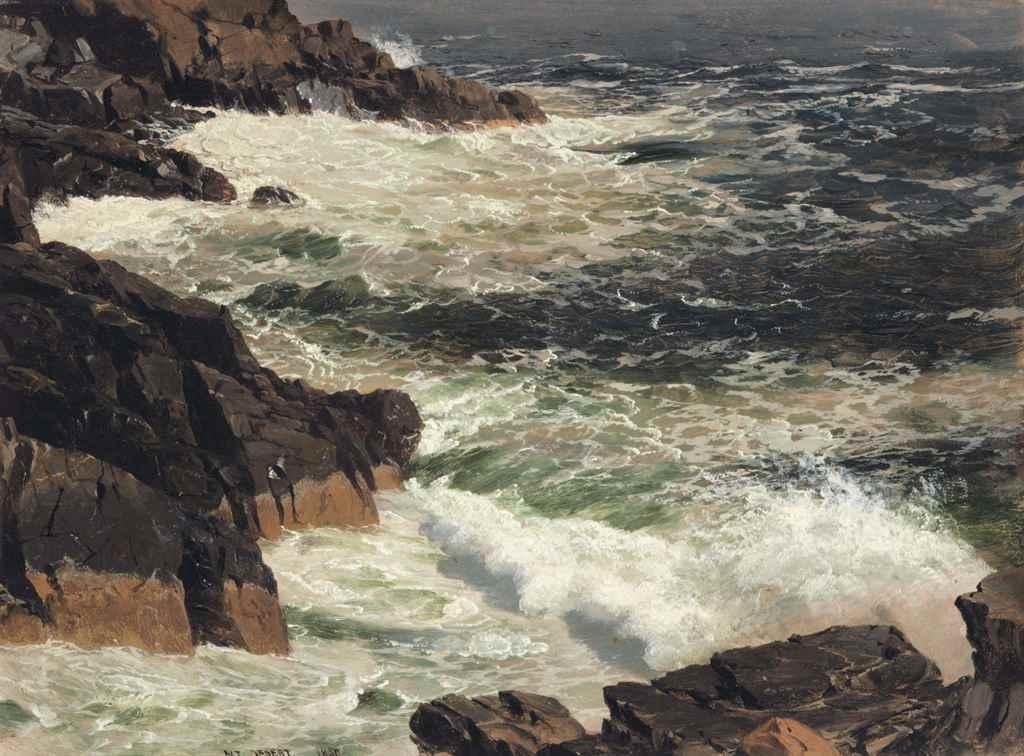 Rough Surf, Mount Desert Island, Maine by Frederic Edwin Church