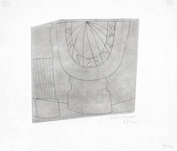 Turkish Sundial and Column by Ben Nicholson