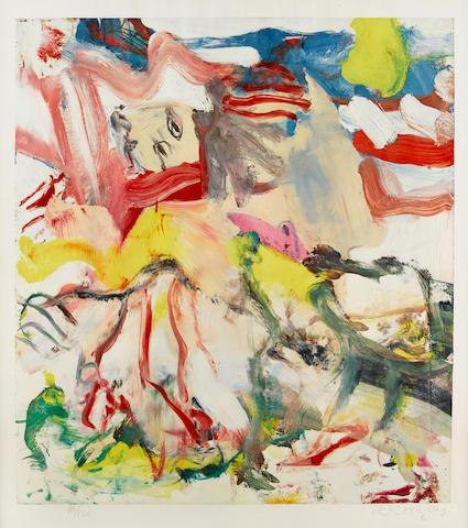 Figure in Landscape VI by Willem de Kooning