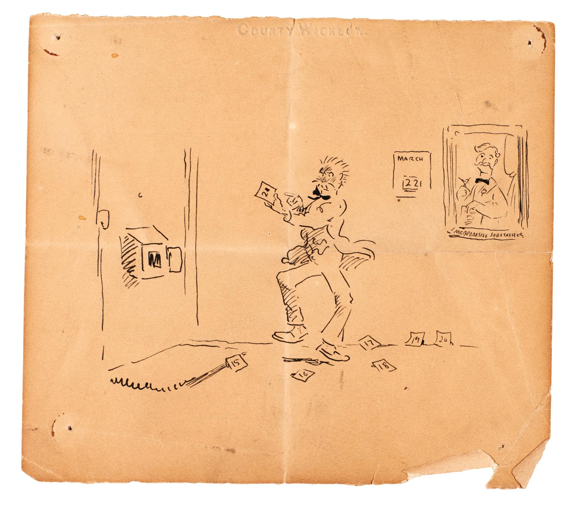 A miscellaneous group of six early sketches by Jack Butler Yeats