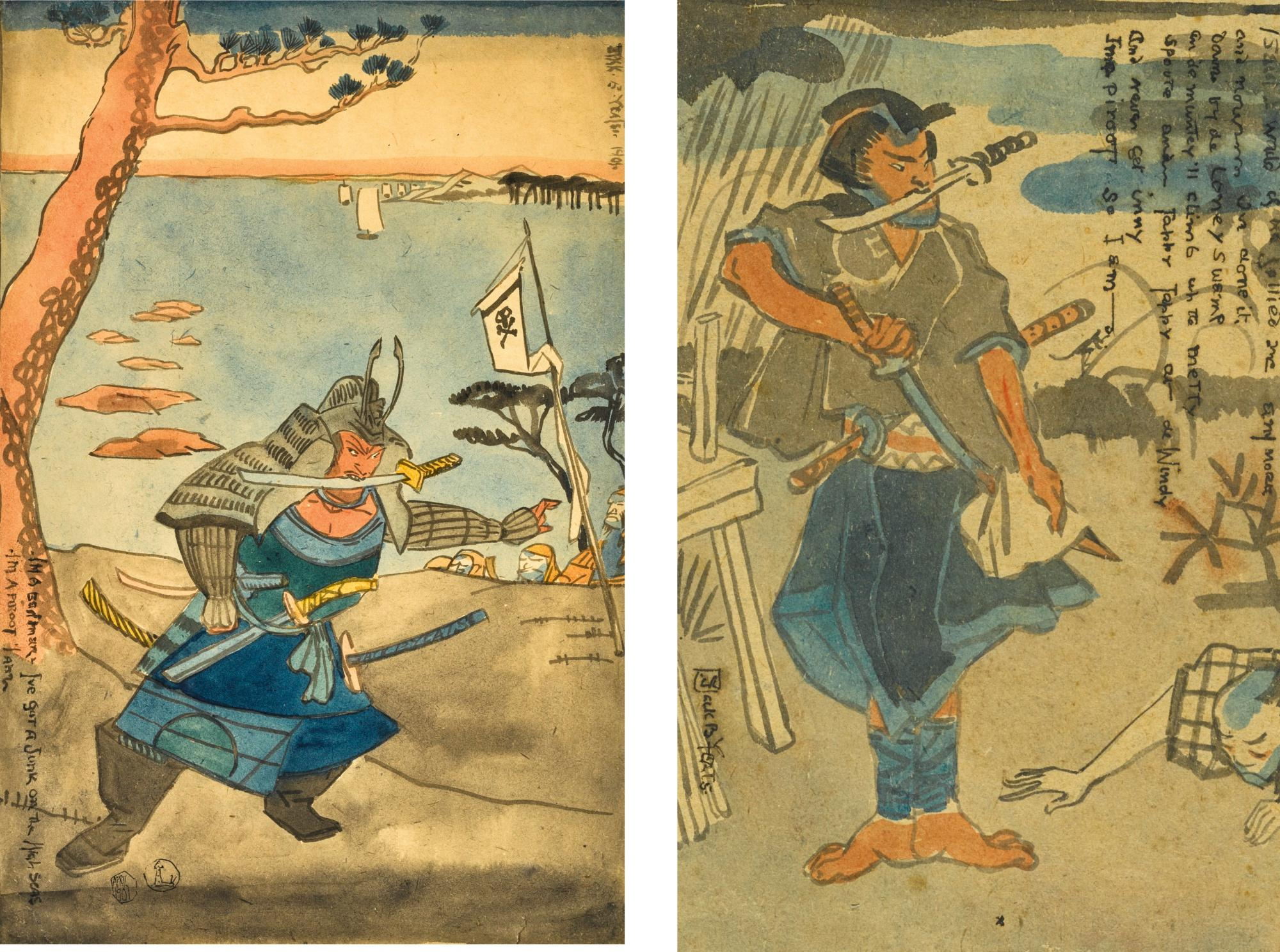 Untitled: Japanese Pirate; Untitled: Japanese Pirate by Jack Butler Yeats