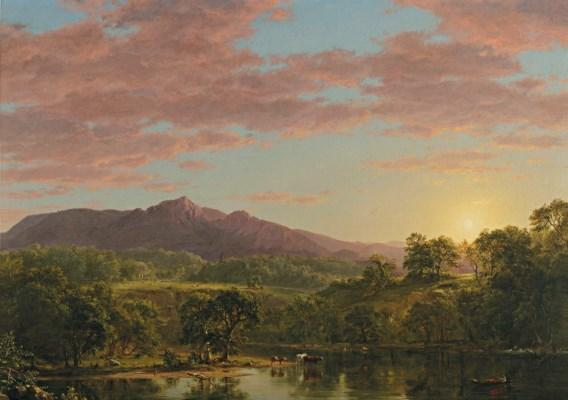 A New England Lake by Frederic Edwin Church