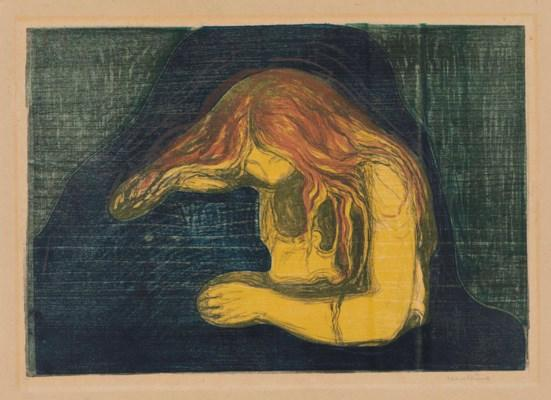 Vampire II by Edvard Munch