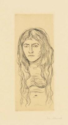 Woman With Long Hair by Edvard Munch