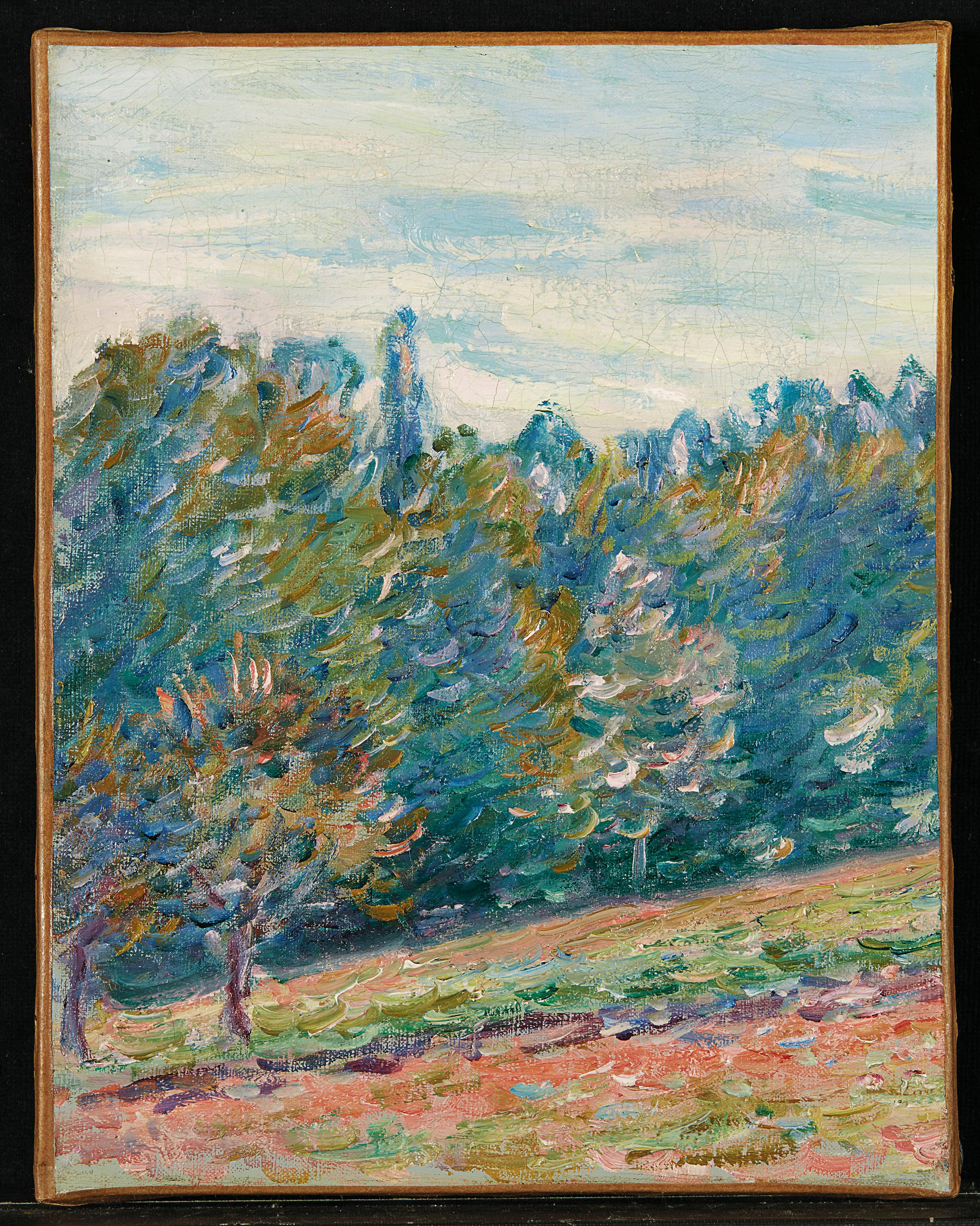 Paysage aux environs de Moret by Alfred Sisley
