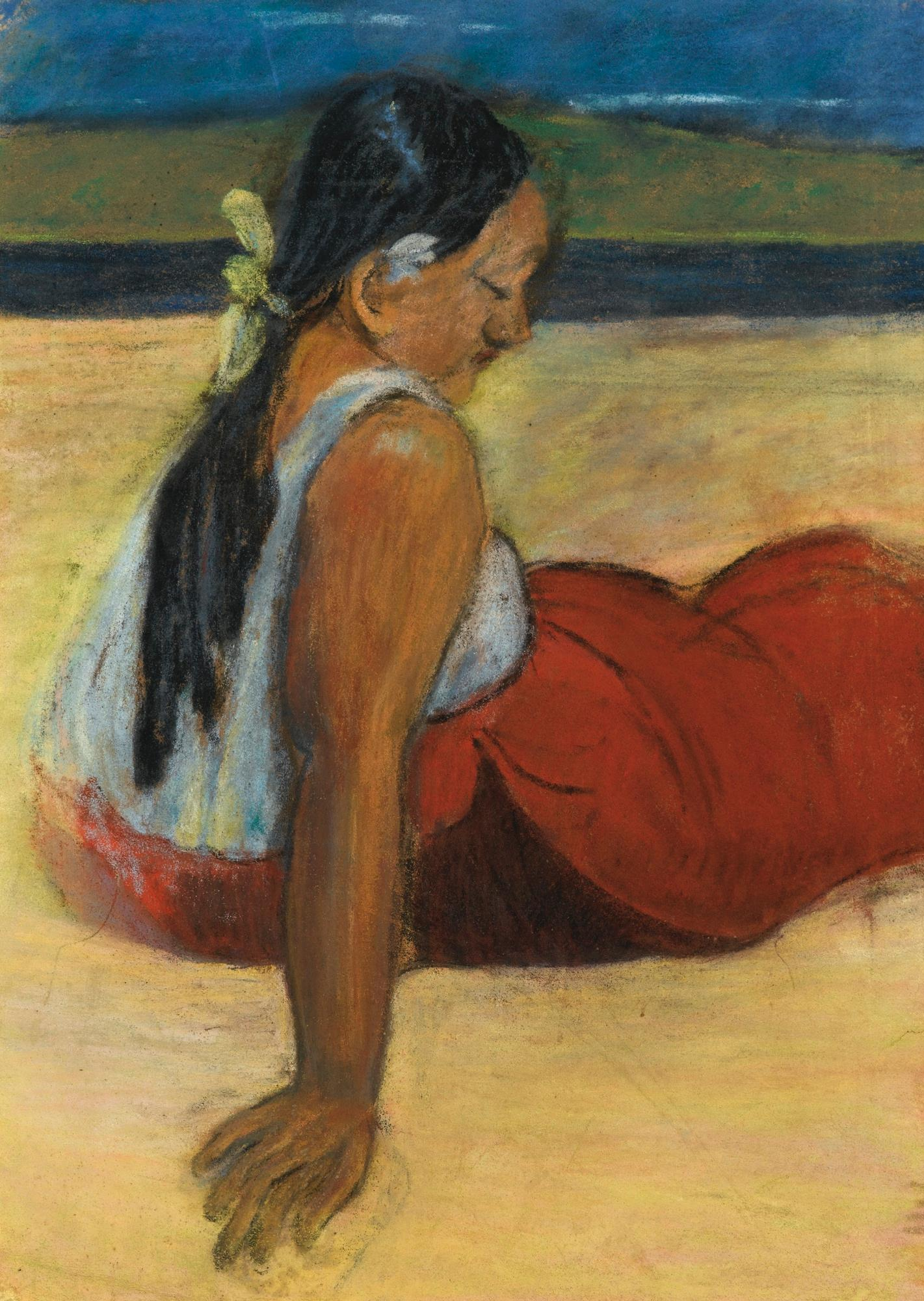 Tahitienne Assise by Paul Gauguin