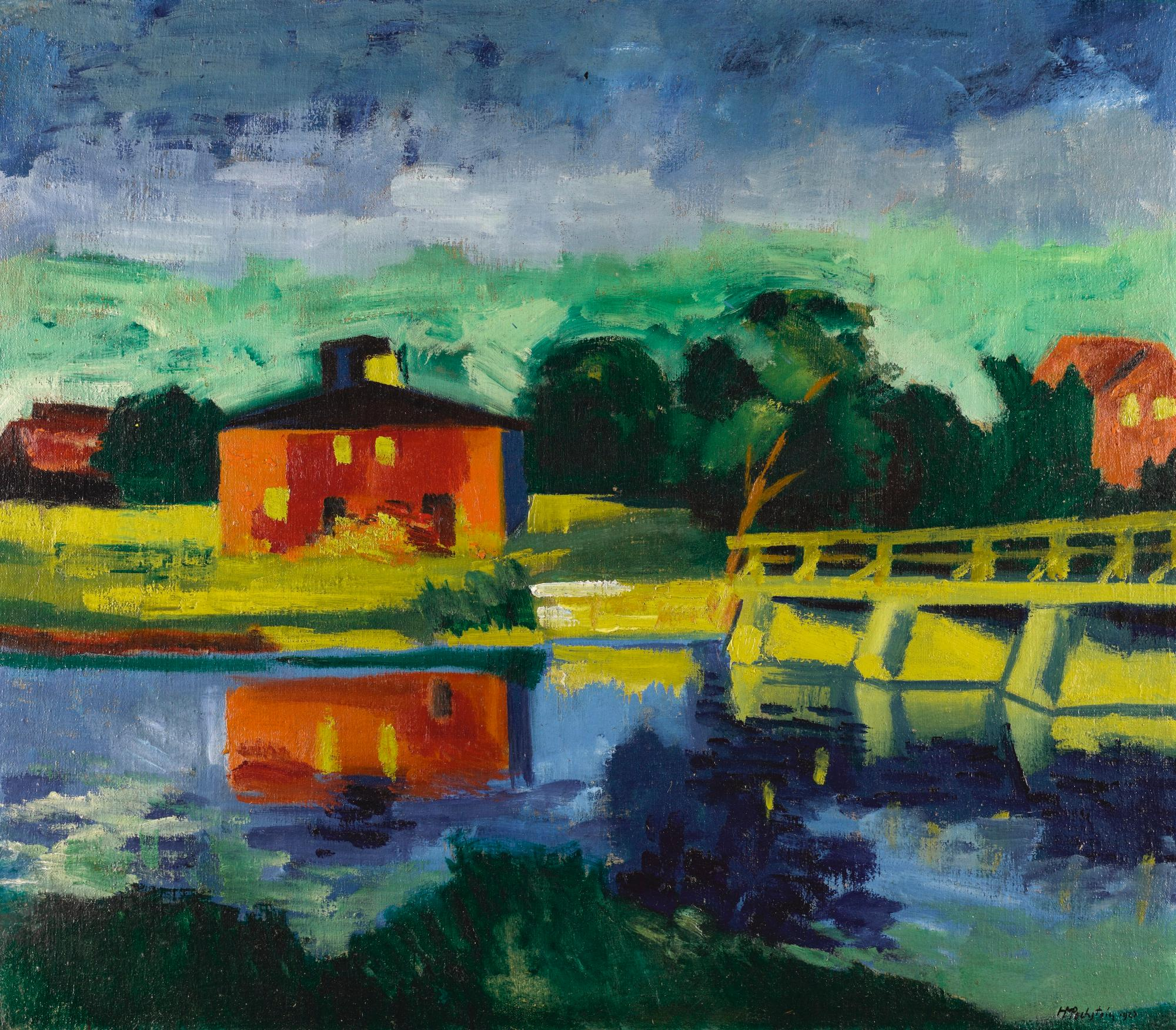 Am Fluss (At The River) by Max Pechstein