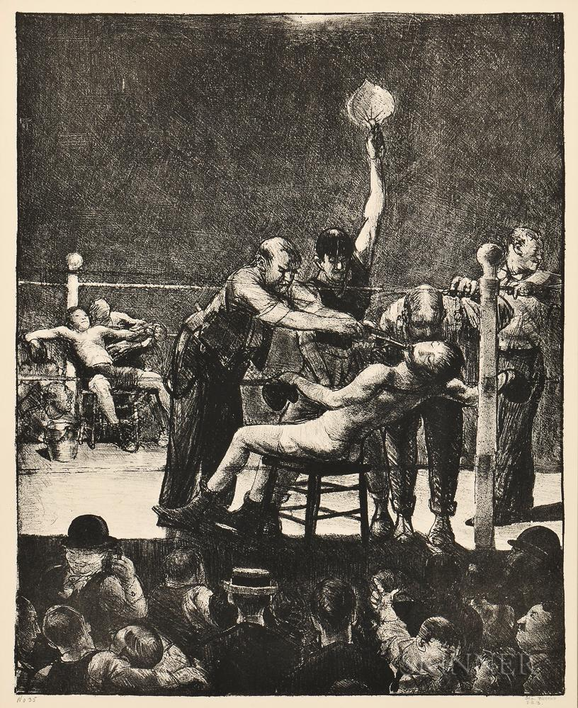 Between Rounds, Large by George Bellows
