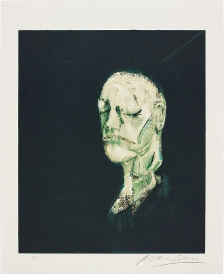 Masque Mortuaire De William Blake (After Study Of Portrait Based On The Life Mask Of William Blake, 1955) by Francis Bacon