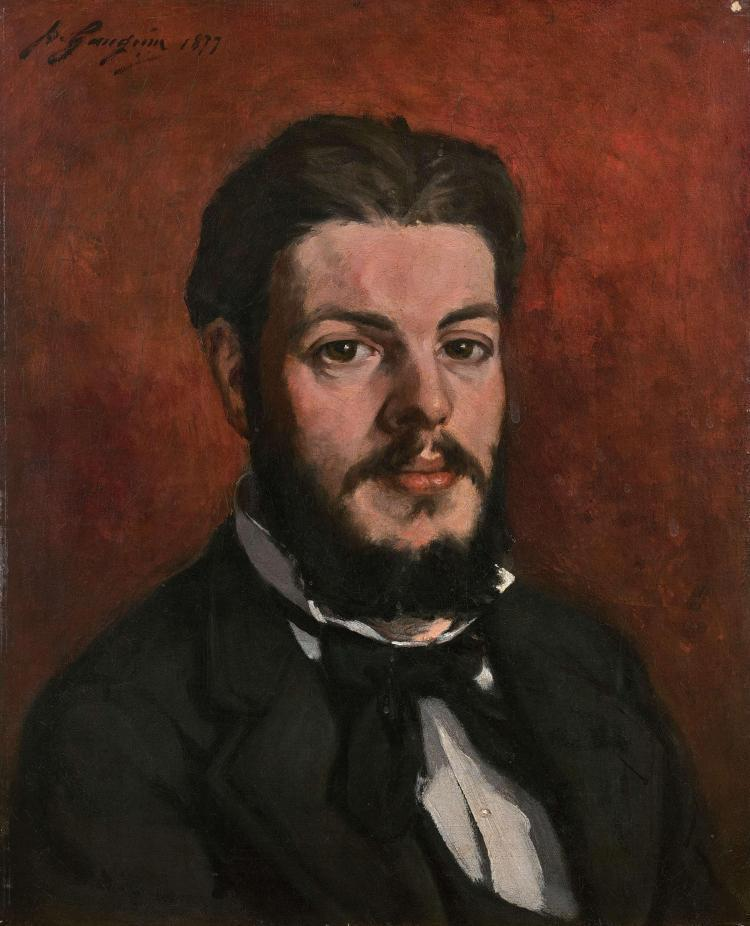 Portrait De Claude Antoine Charles Favre by Paul Gauguin