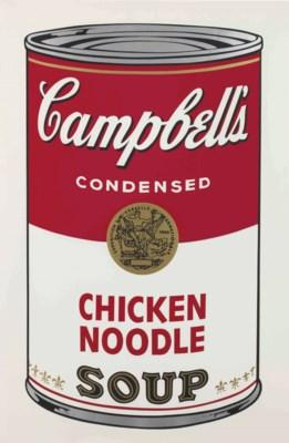 Chicken Noodle, from Campbell's Soup I by Andy Warhol