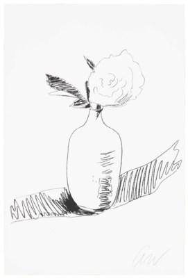 Flowers (Black and White): One Plate by Andy Warhol