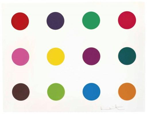 Methionine, from 12 Woodcut Spots by Damien Hirst