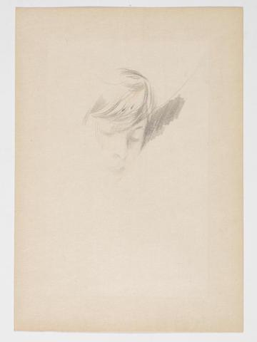 Study of the head of a lady, thought to be Madame Alice Helleu by Giovanni Boldini