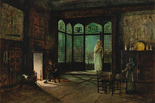 A scene from Act II, Jane Shore by John Atkinson Grimshaw
