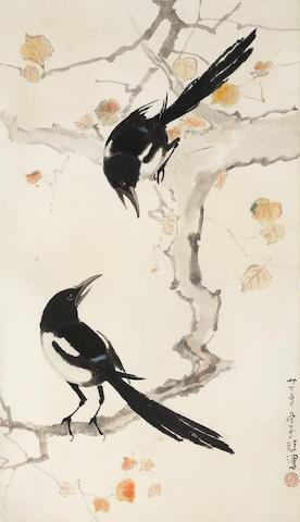 Two Magpies by  Xu Beihong