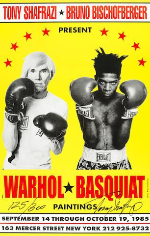 Poster For Warhol/Basquiat Paintings by Jean-Michel Basquiat