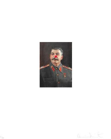Red Nose Stalin by Damien Hirst