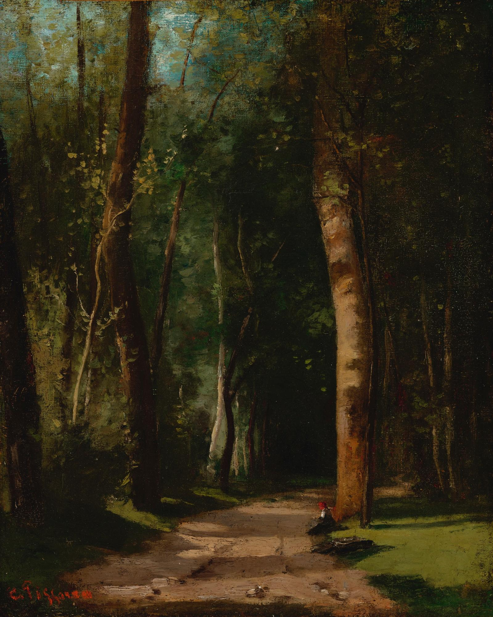 Allee Dans Une Foret by Camille Pissarro