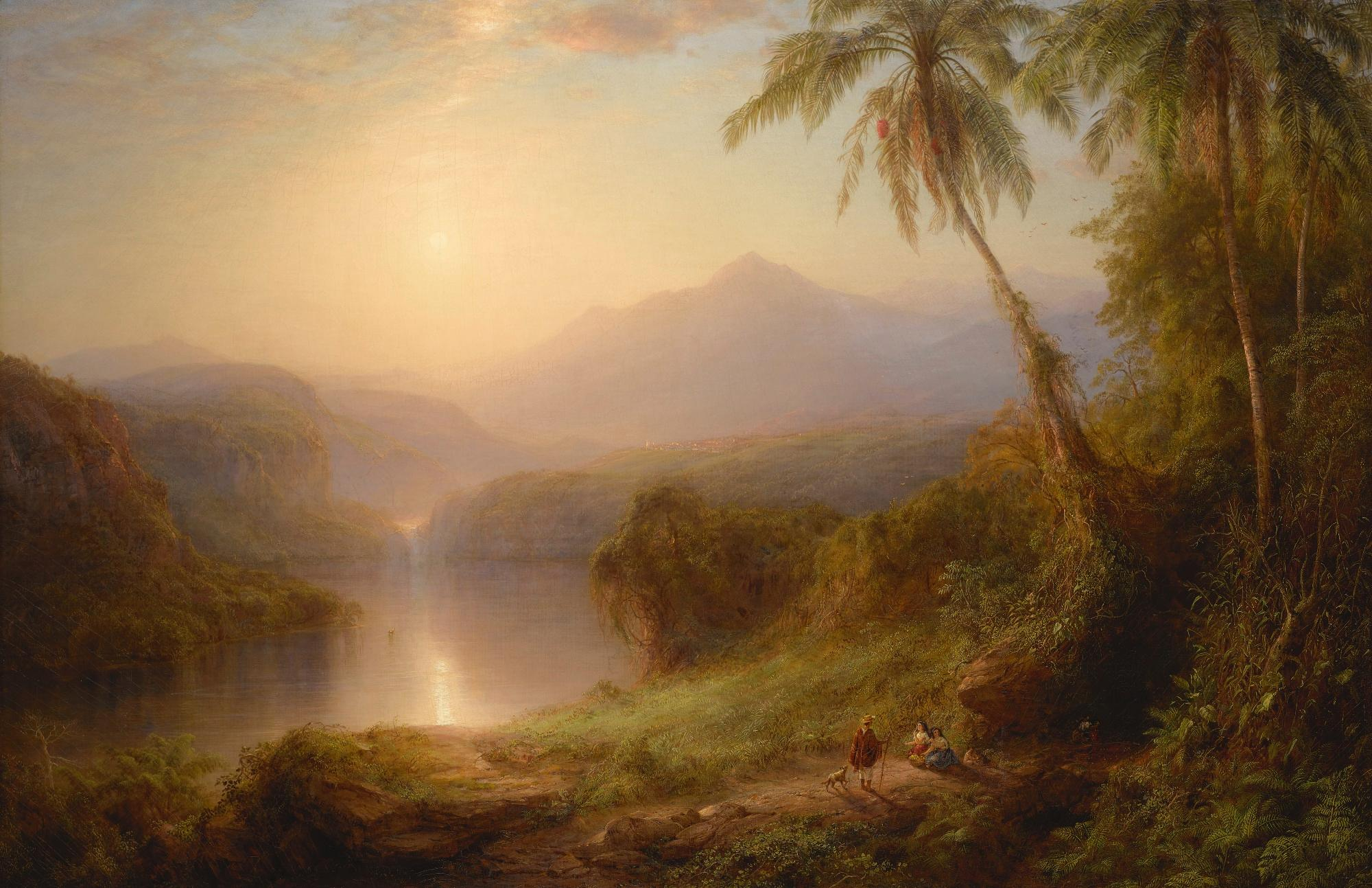 Valley Of Santa Isabel, New Granada by Frederic Edwin Church