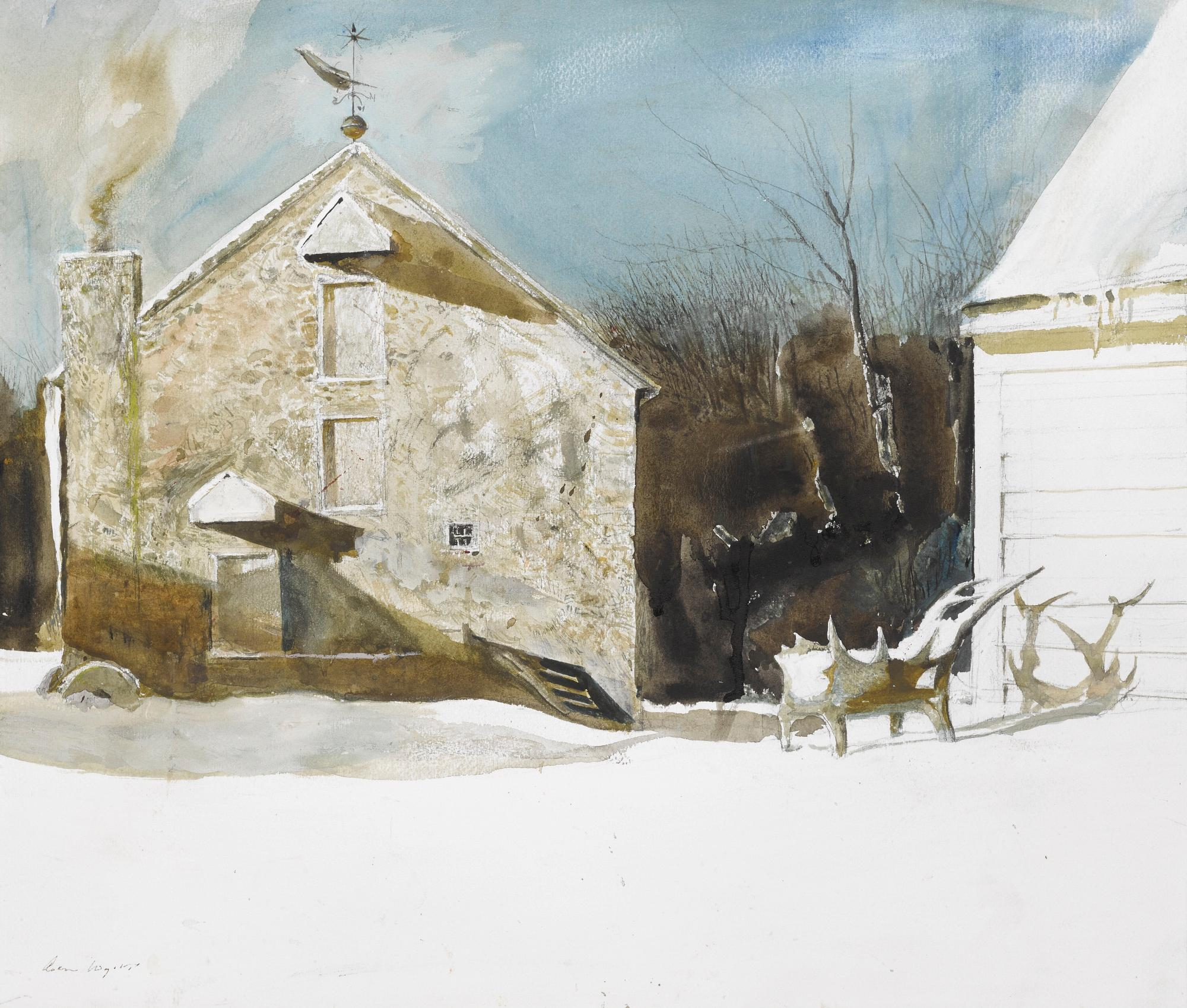 Weather Front (Study For 'Arctic Circle') by Andrew Wyeth