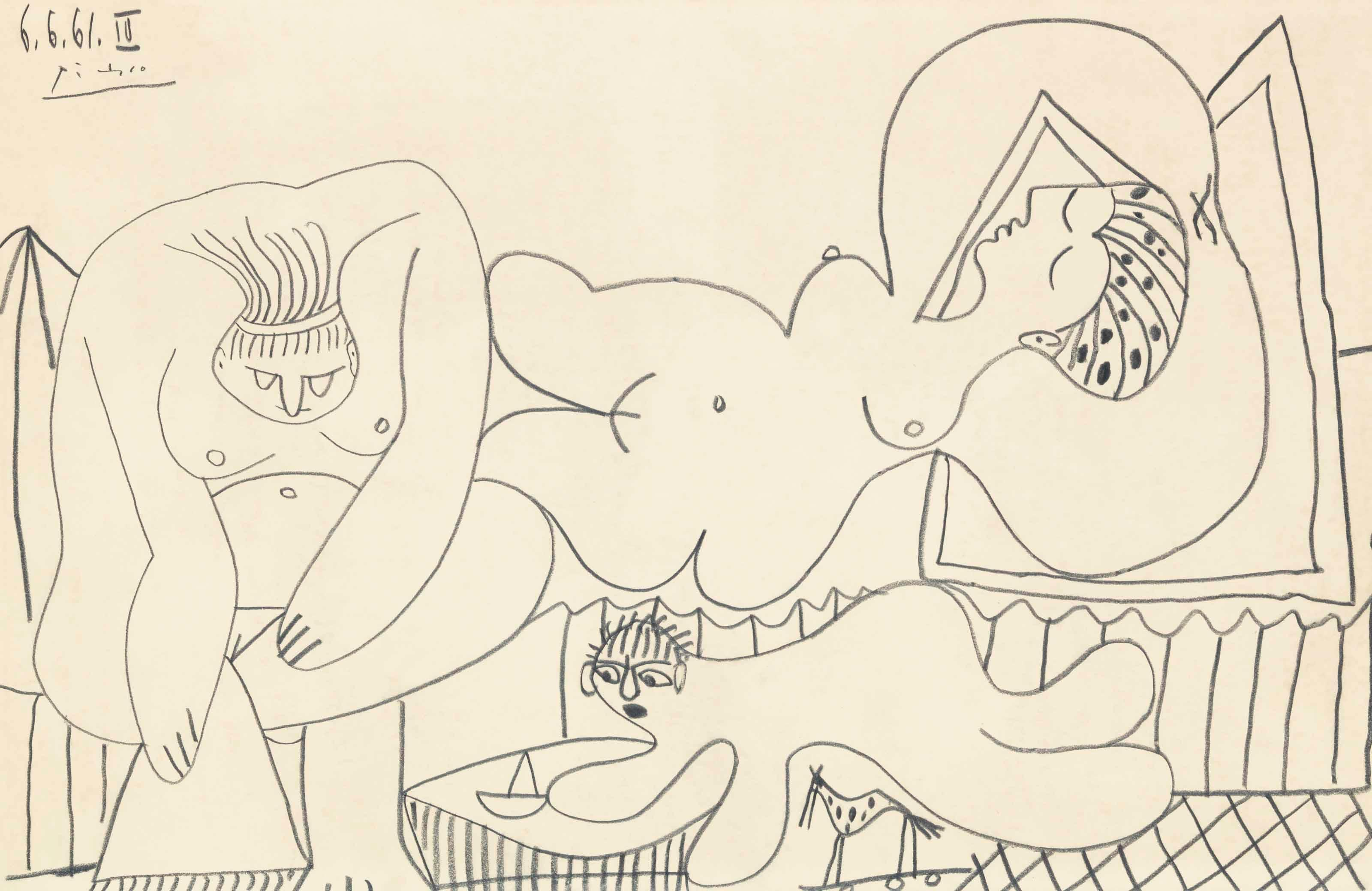 Baigneuses by Pablo Picasso