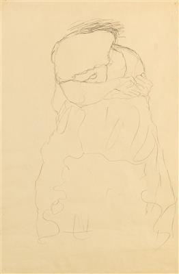 Crouching figure, the face partially covered by the arms by Gustav Klimt