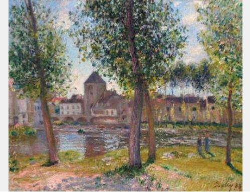 Les Peupliers ? Moret-Sur-Loing, apr?s midi d'ao?t by Alfred Sisley