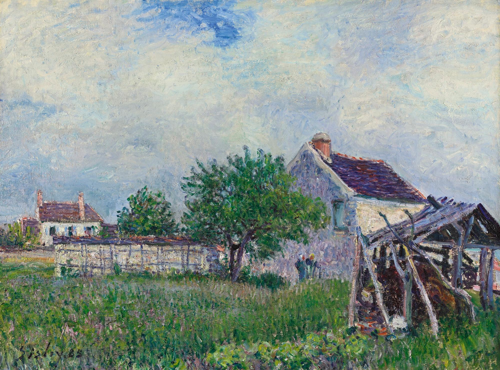 Vieille Chaumiere Aux Sablons by Alfred Sisley