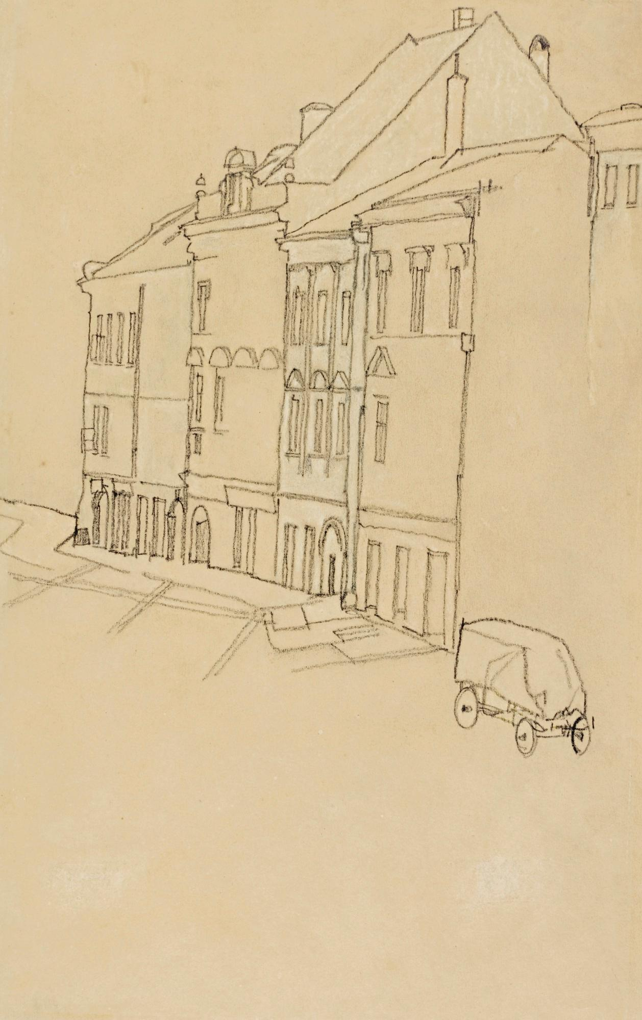 H?user In Krumau (Houses In Krumau) by Egon Schiele