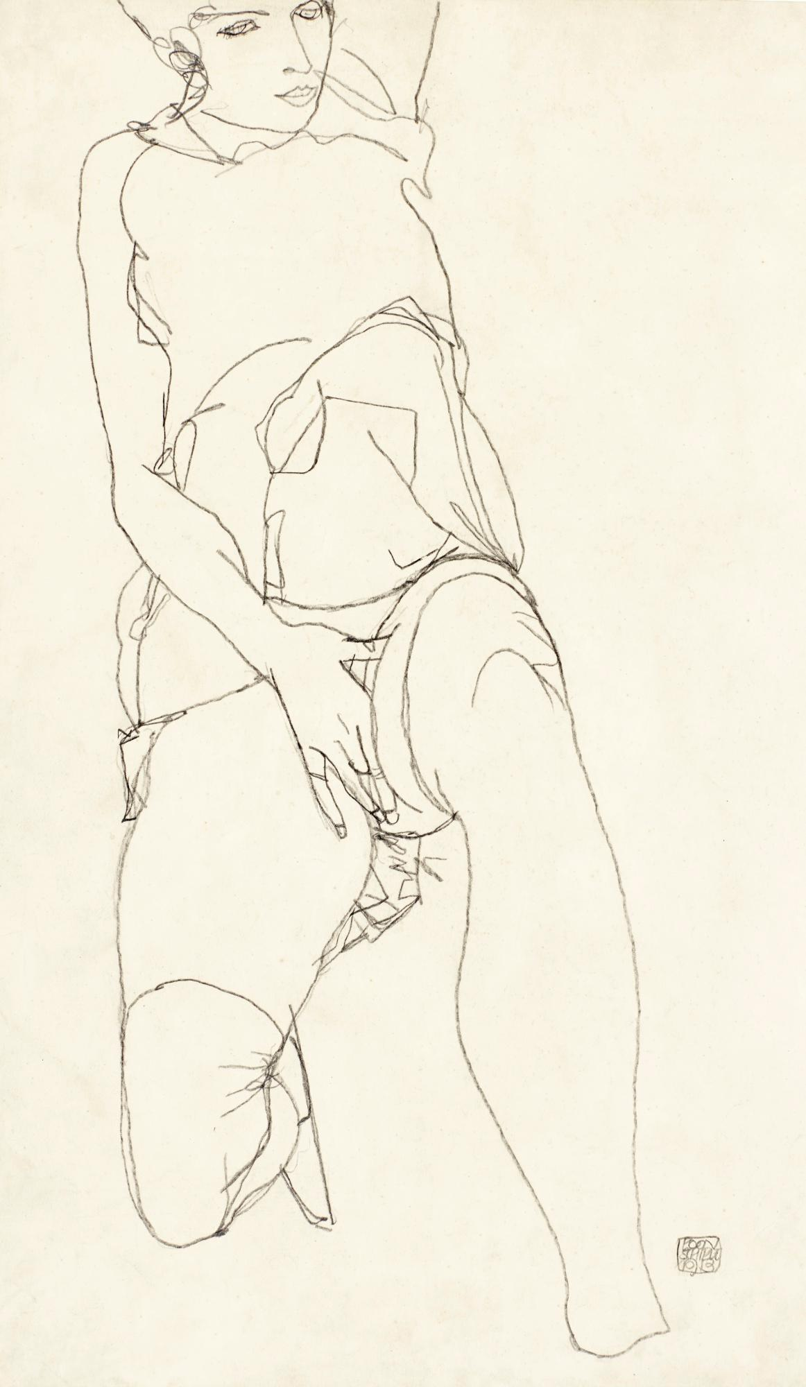 Liegende (Reclining Woman) by Egon Schiele