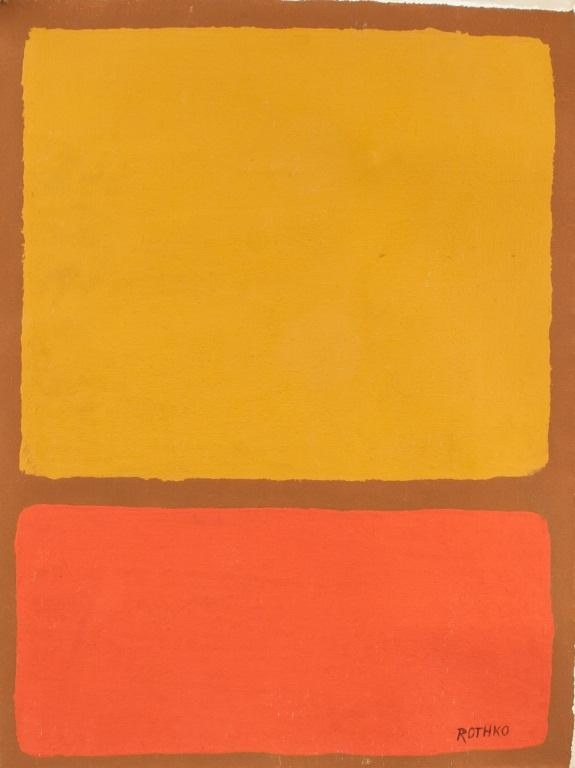 Orange and yellow abstract theme artwork by Mark Rothko