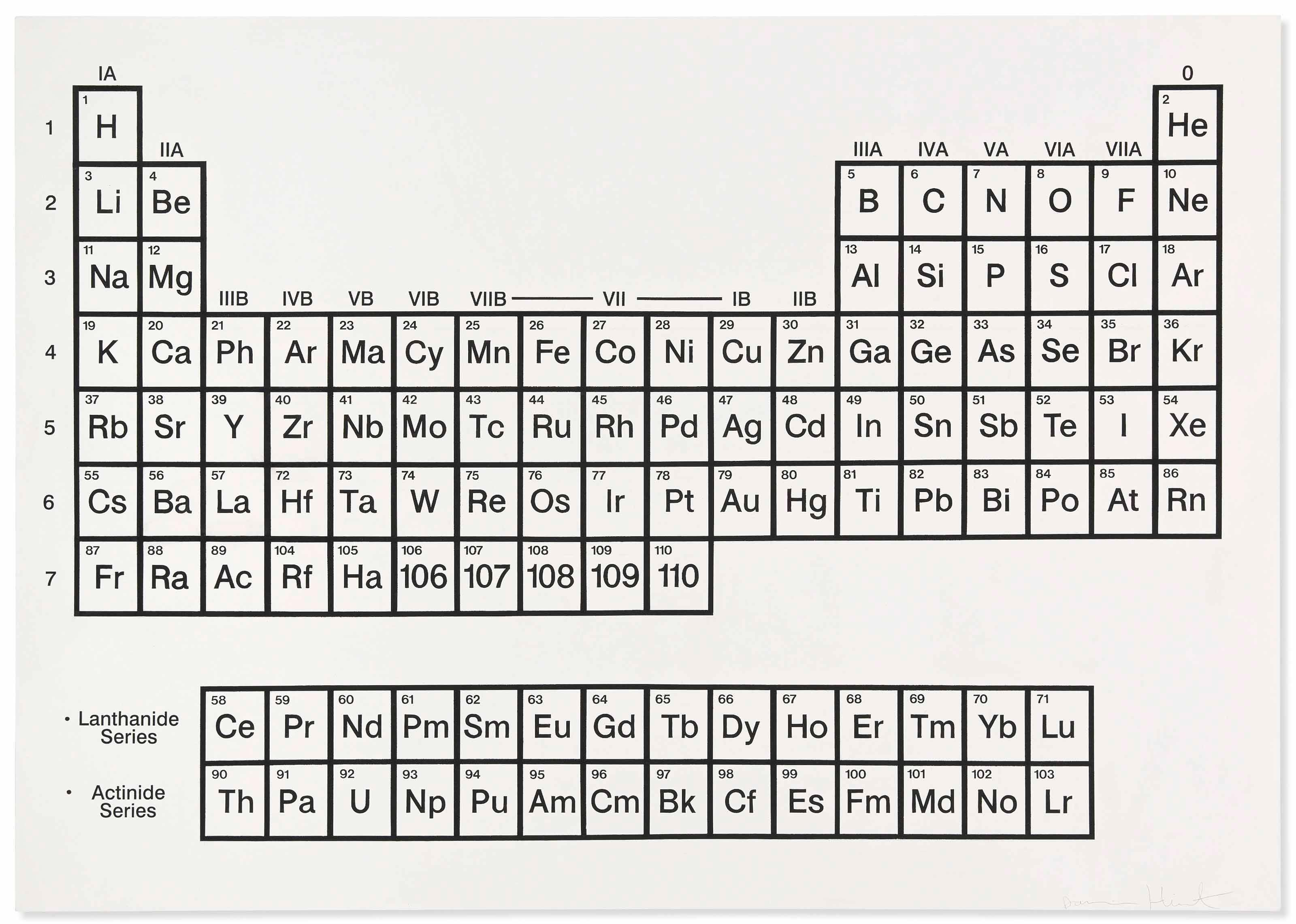 White Periodic Table by Damien Hirst
