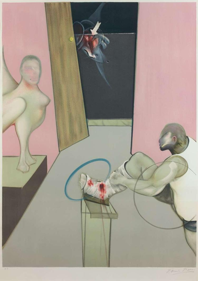 Oedipe Et Le Sphinx by Francis Bacon