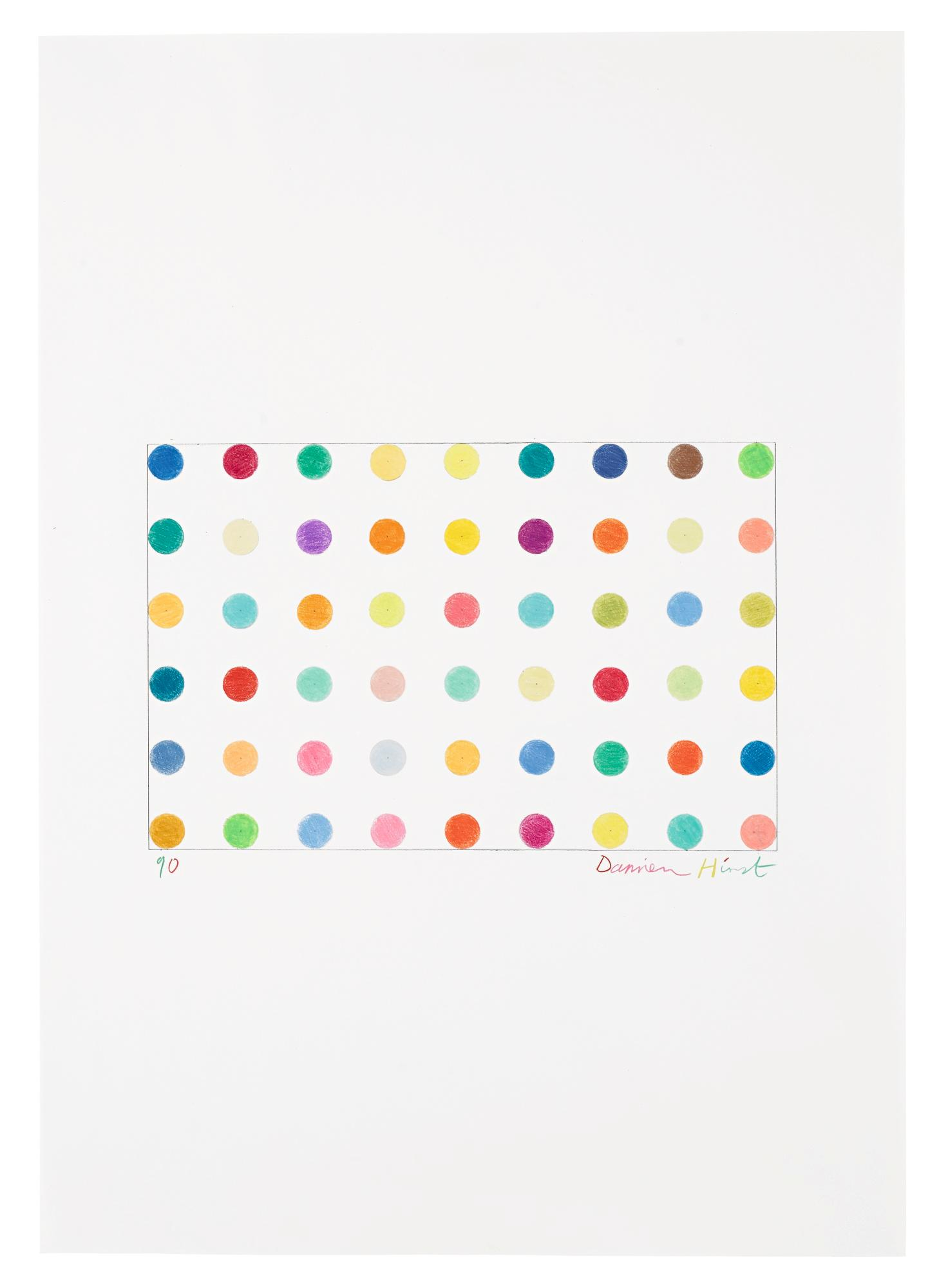 Spot Drawing No. 2 by Damien Hirst
