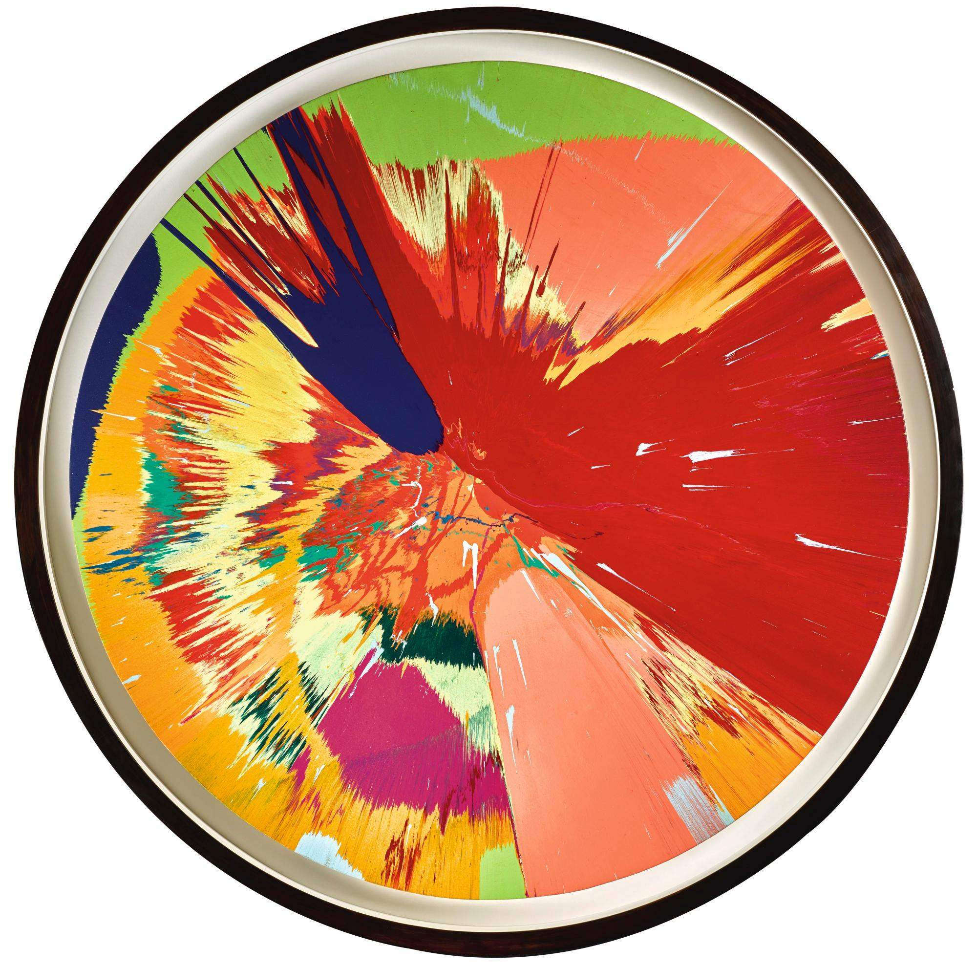 Beautiful, Intense, Violently, Gorgeous, Painful, Invading Love, Painting by Damien Hirst