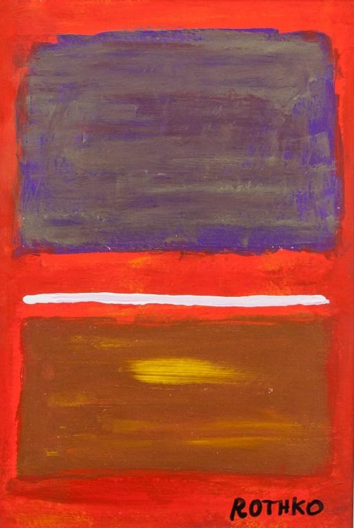 Abstract composition by Mark Rothko