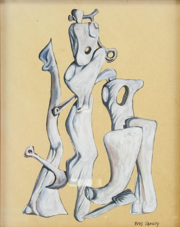 Featuring abstract figures by Yves Tanguy