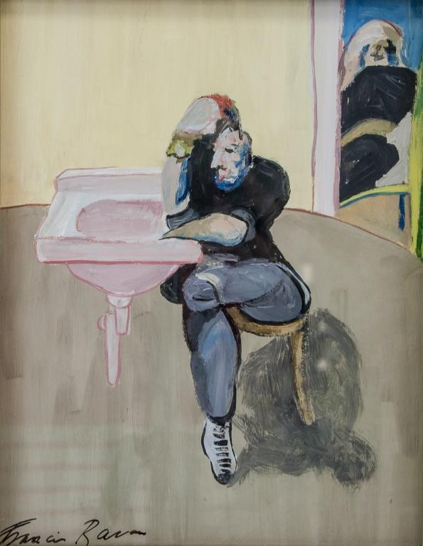 An abstract figure by Francis Bacon