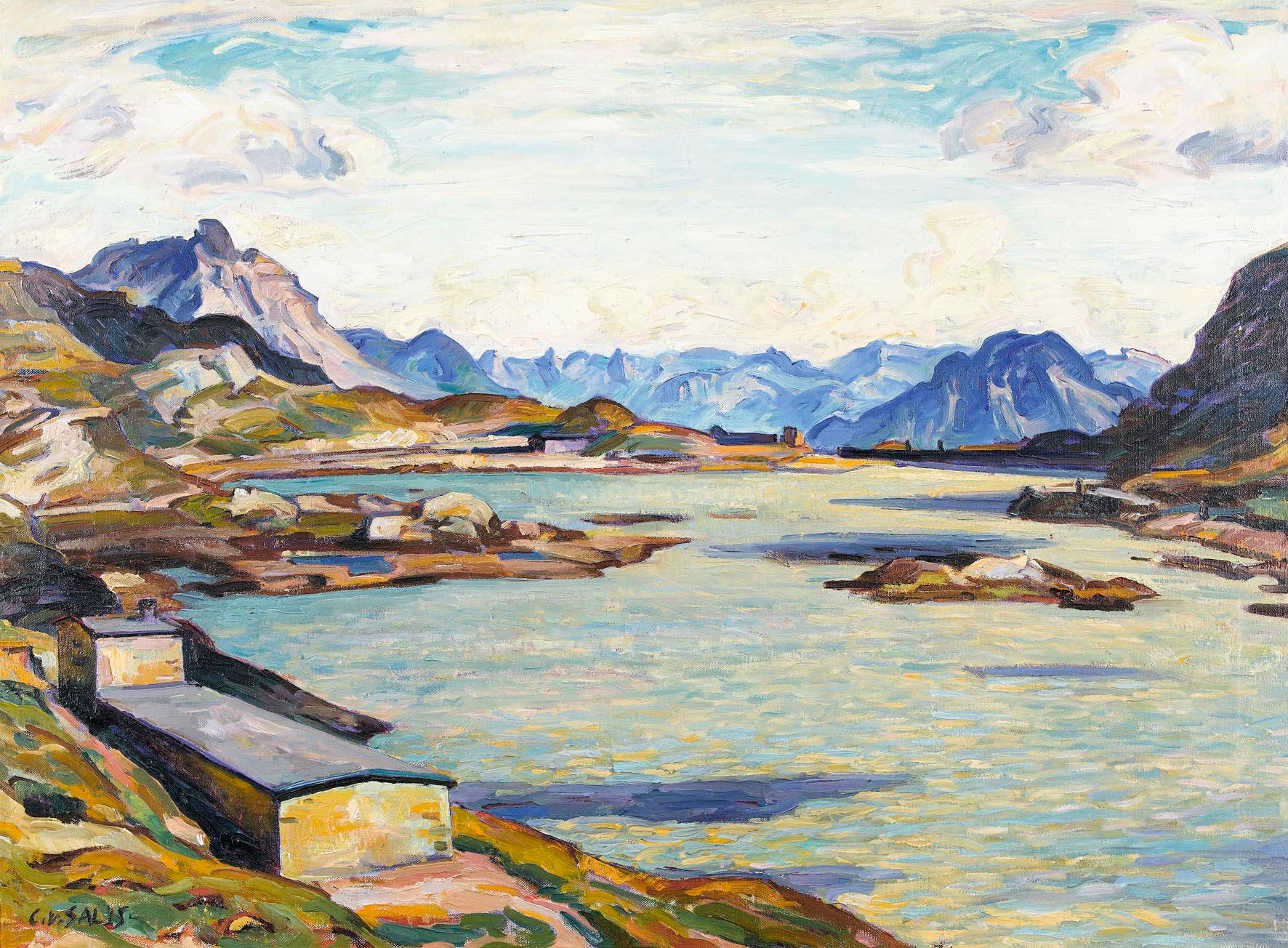 Carl Albert von Salis, Lago Bianco am Berninapass