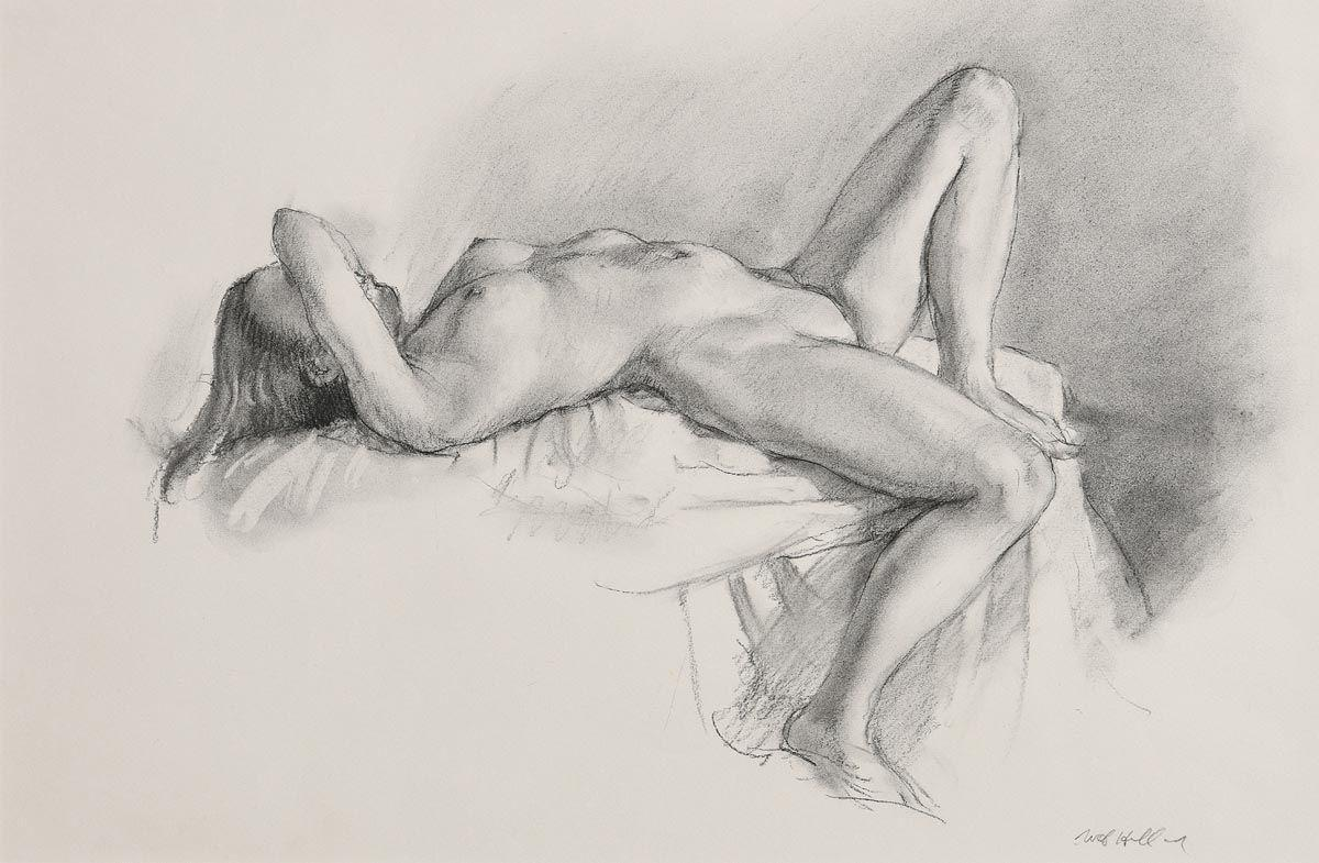 Recling Female Nude by Harry Holland